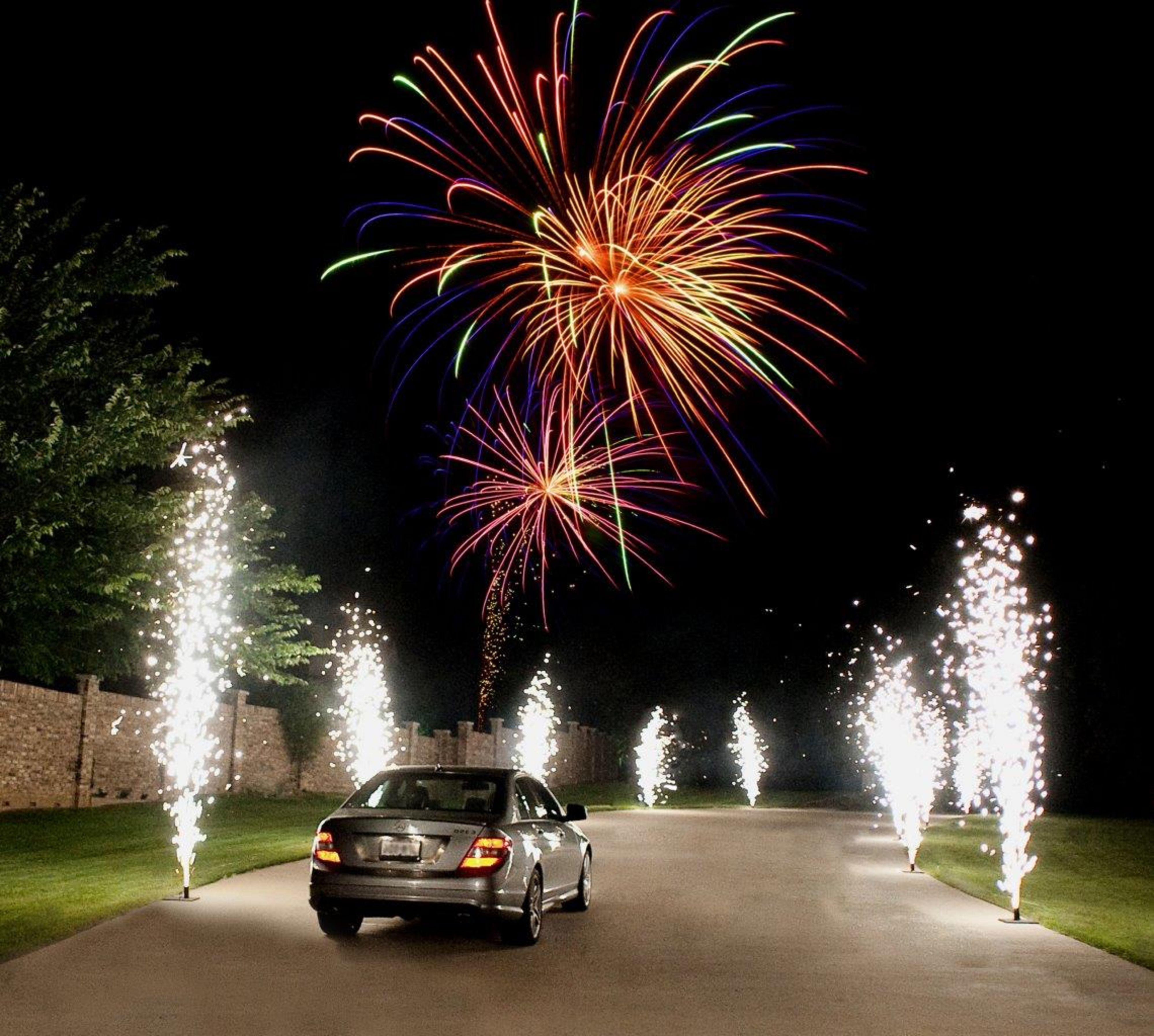 Vuurwerk Huwelijksfeest