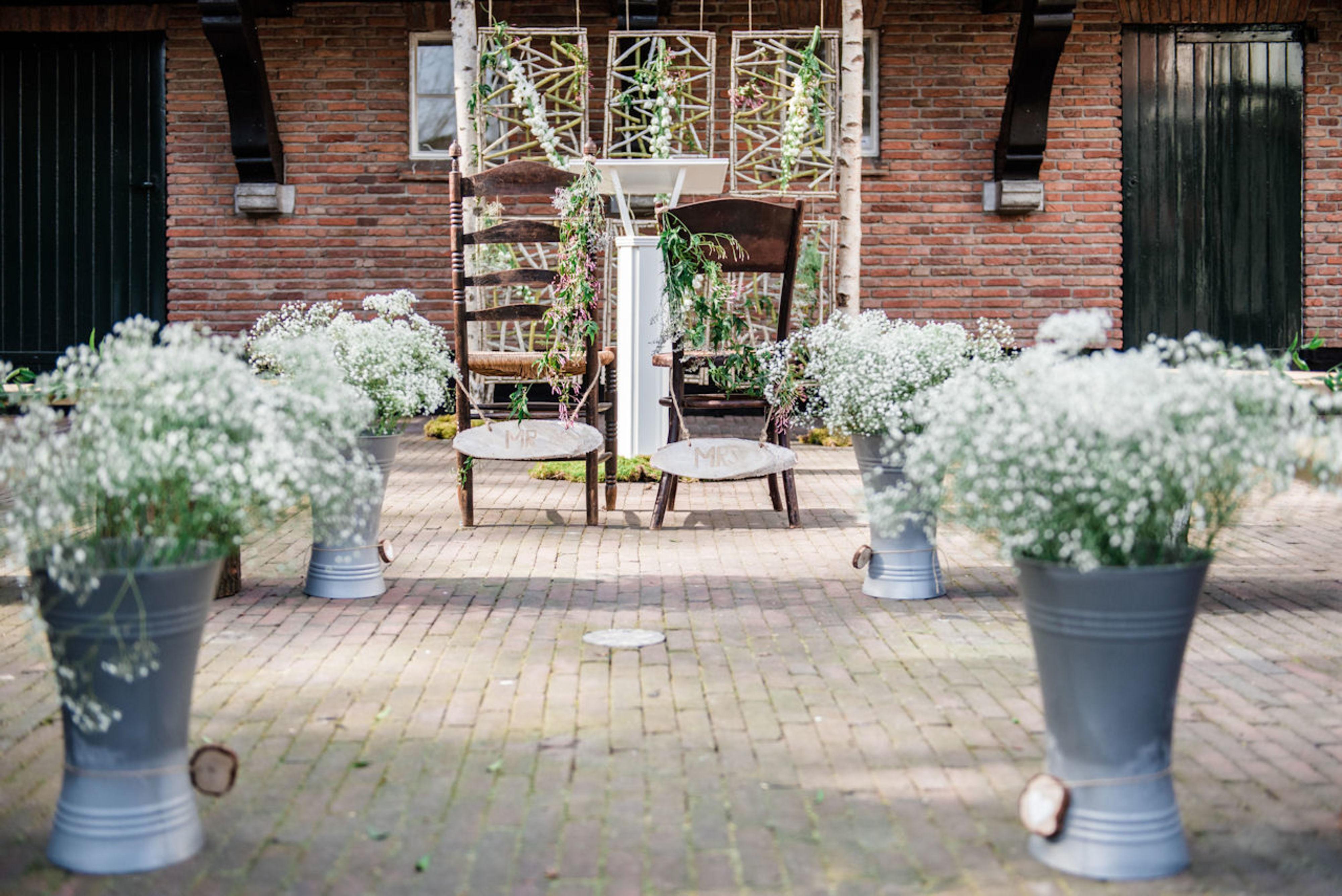 Trouwdecoratie Huwelijksceremonie
