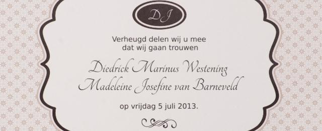 Tekst trouwkaart bruiloft