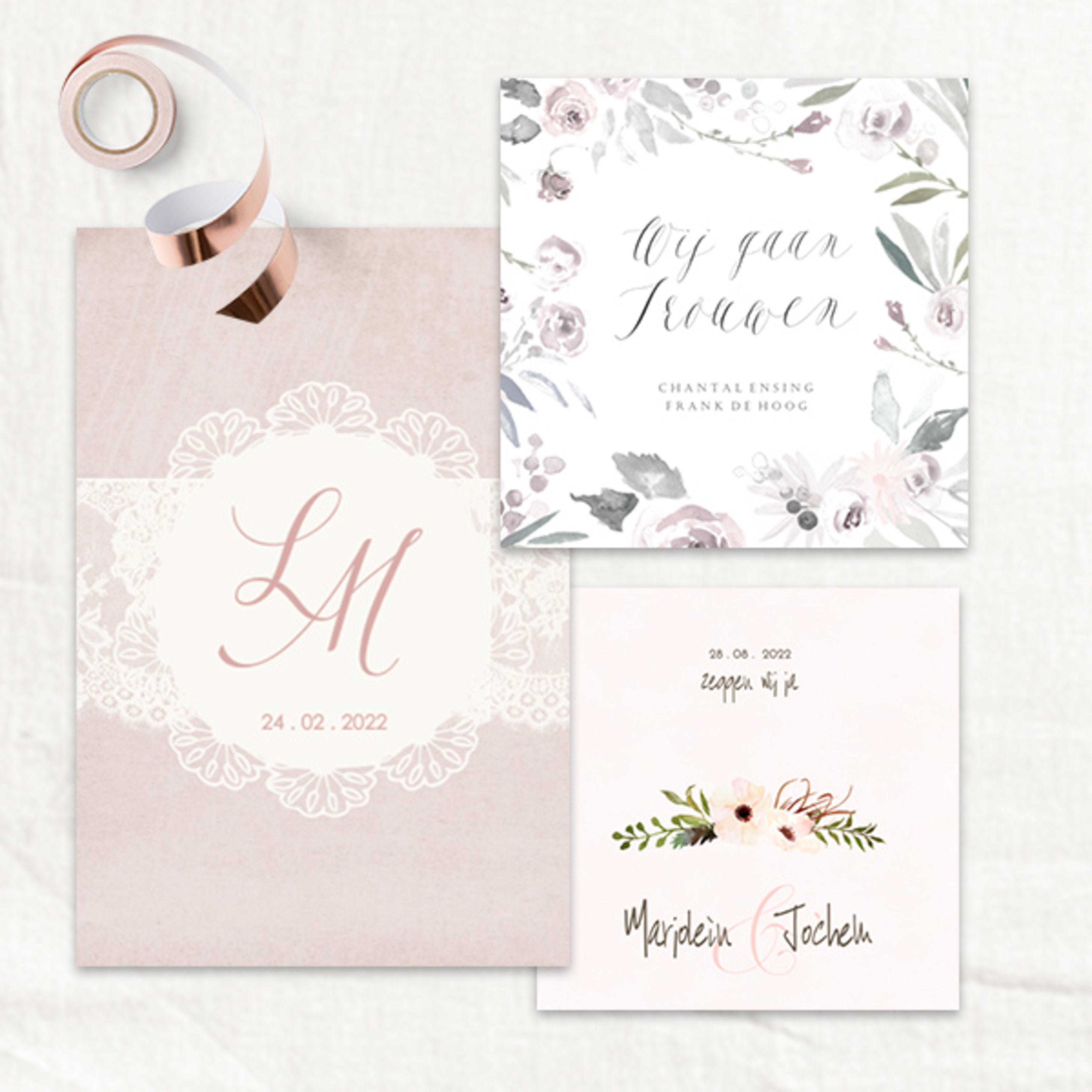 Stijlvolle trouwkaarten