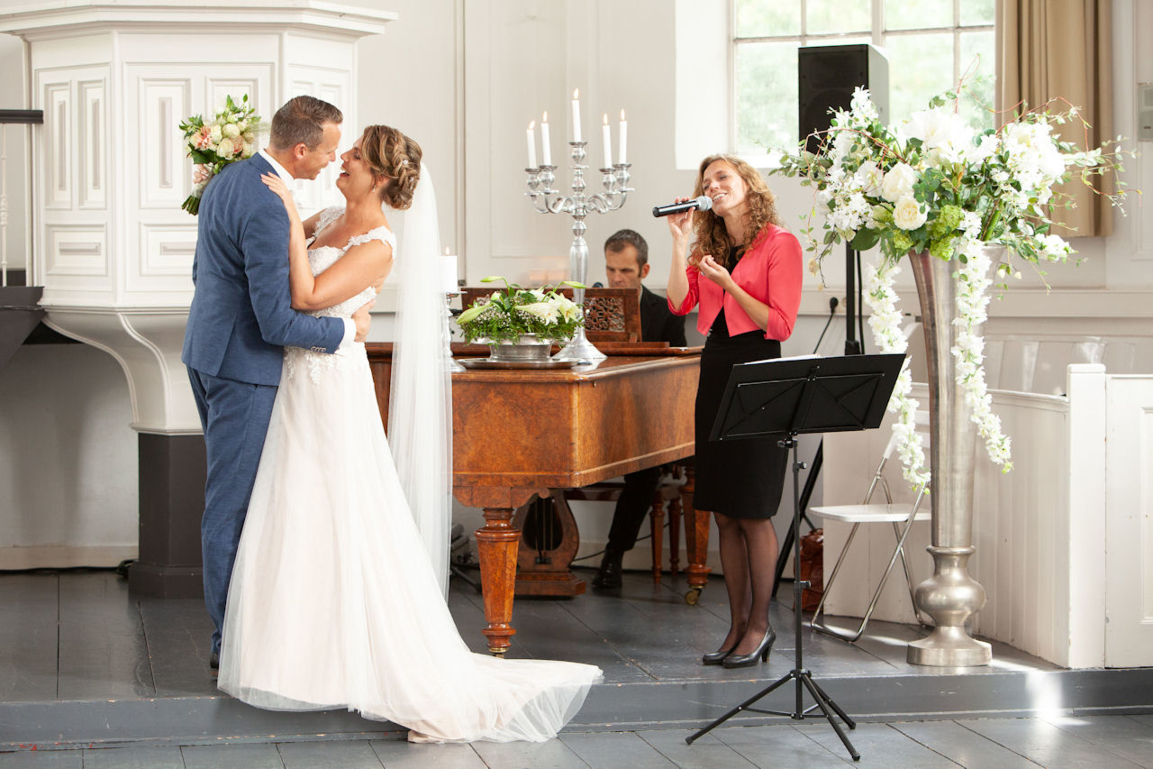 Livemuziek tijdens trouwceremonie