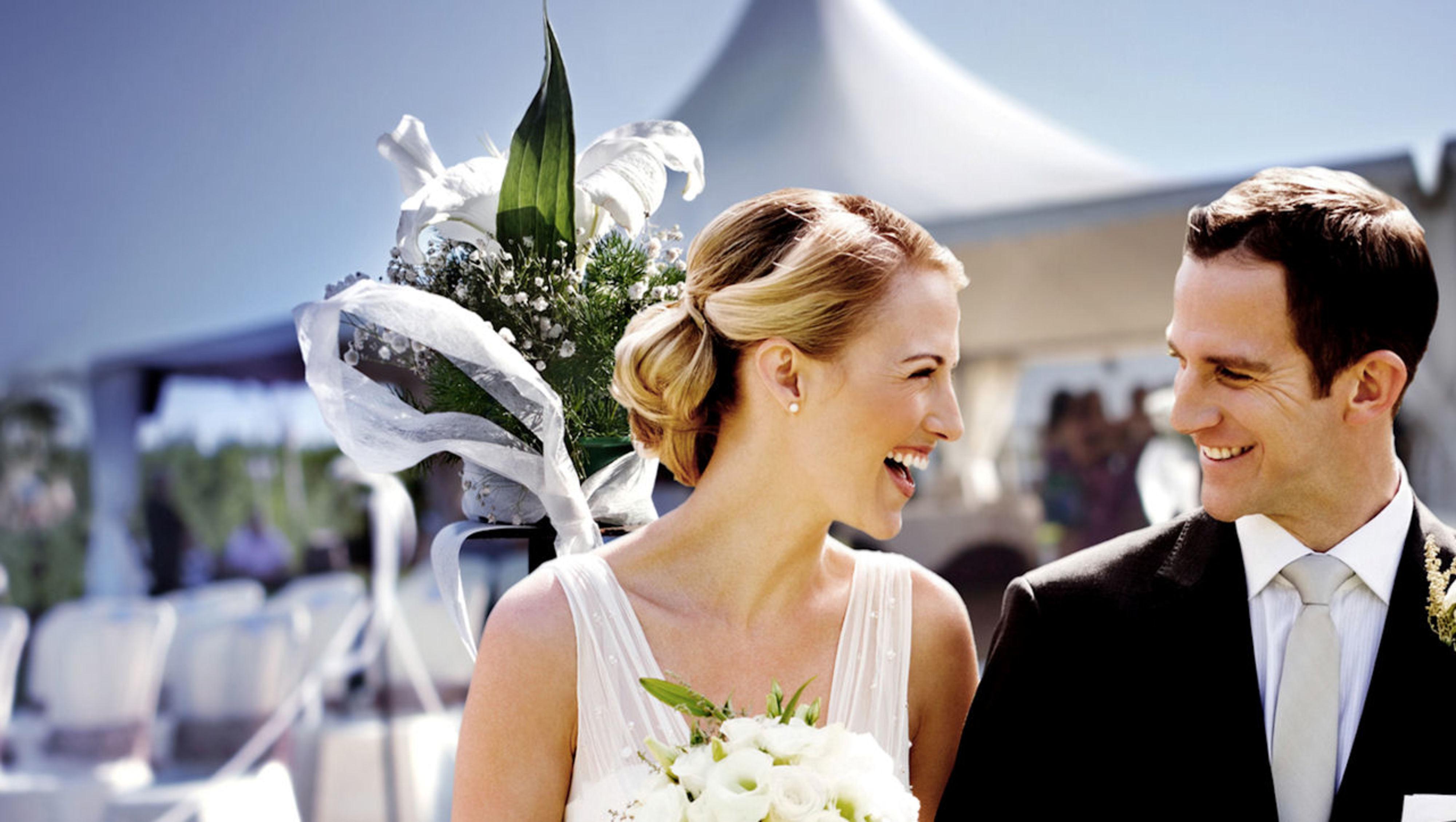 Bruiloft in een tent