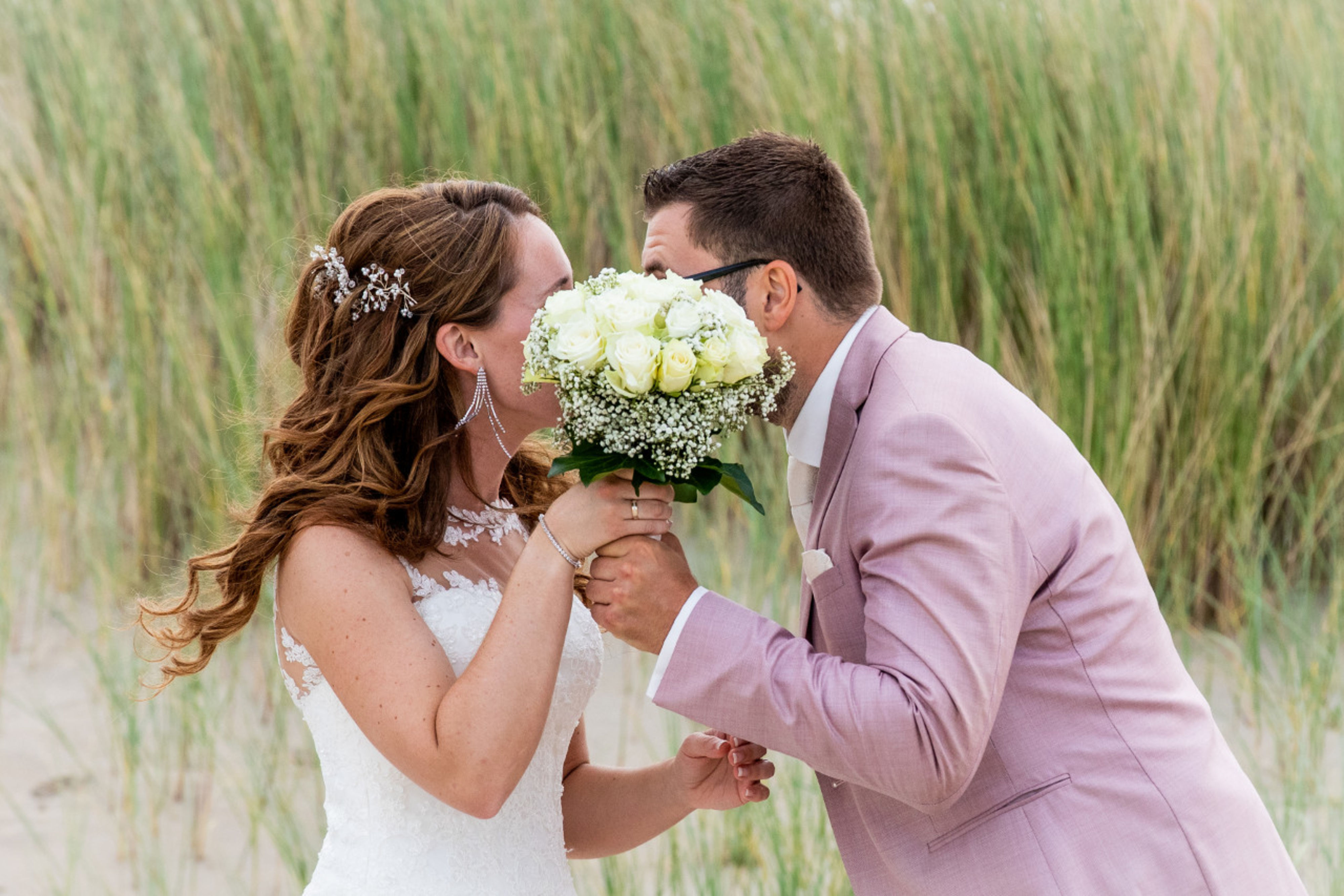 Roos in bruidsboeket