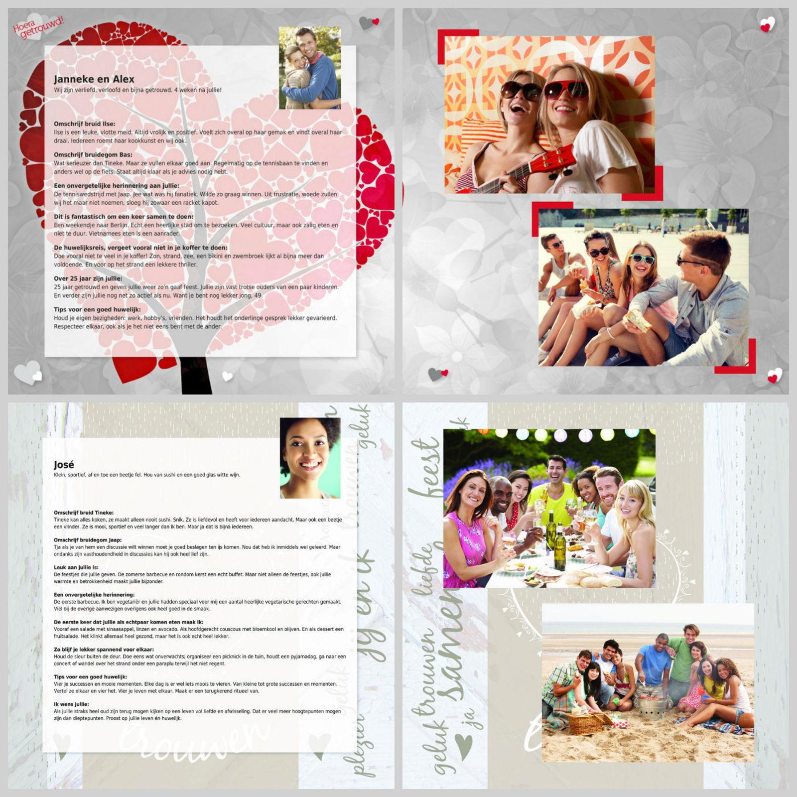 vriendenboekje bruiloft
